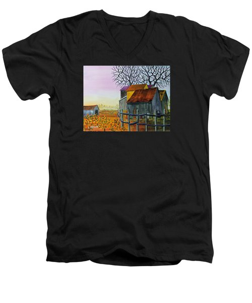 Path To The Past Men's V-Neck T-Shirt by Jack G Brauer