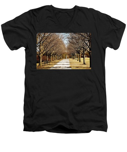 Pathway Through Trees Men's V-Neck T-Shirt
