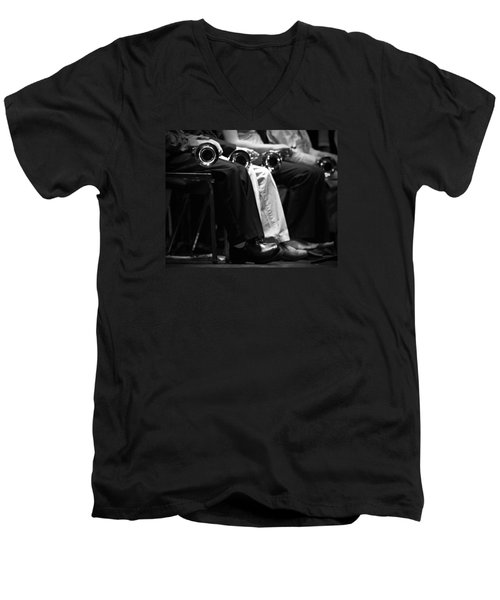 Men's V-Neck T-Shirt featuring the photograph Patiently Waiting... by Trish Mistric