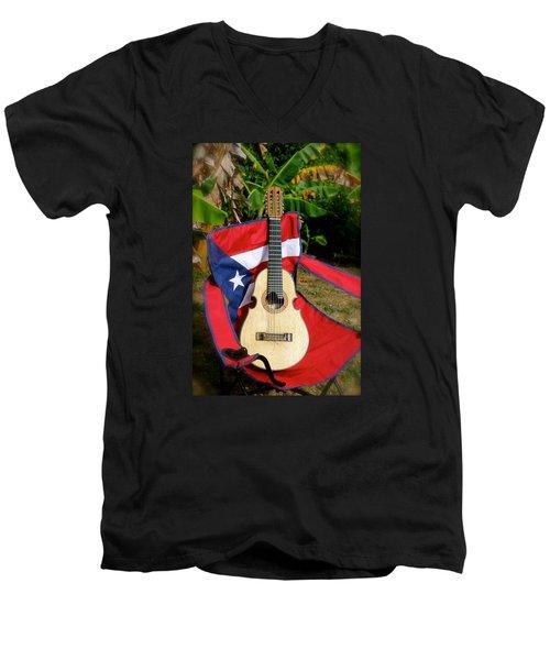 Patriotic Cuatro Men's V-Neck T-Shirt