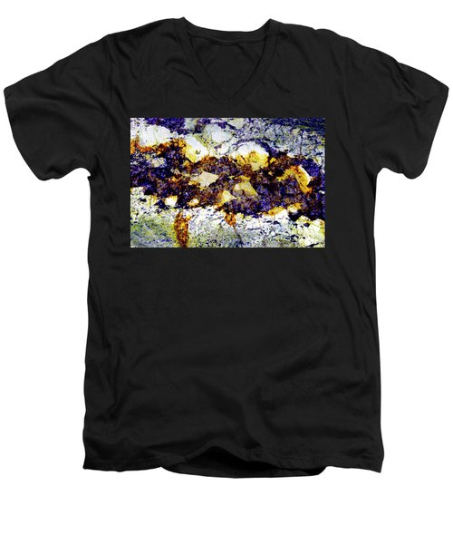 Men's V-Neck T-Shirt featuring the photograph Patterns In Stone - 212 by Paul W Faust - Impressions of Light