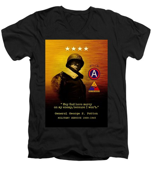 Patton Tribute Men's V-Neck T-Shirt