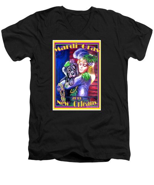 Pawdi Gras Men's V-Neck T-Shirt