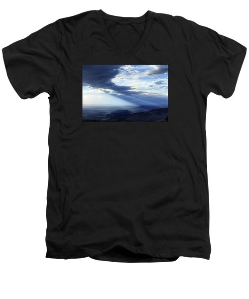 Peace In The Valley Men's V-Neck T-Shirt by Rick Furmanek