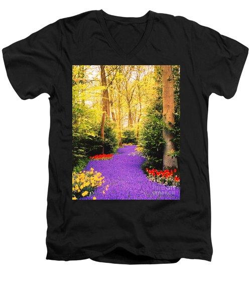 Peace, Like A River Men's V-Neck T-Shirt