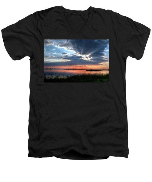 Peace Men's V-Neck T-Shirt by Ronda Ryan