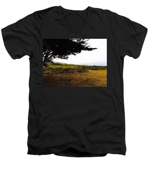 Peaceful Coast Men's V-Neck T-Shirt