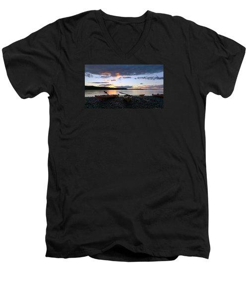 Peaceful Moments At Bar Harbor Men's V-Neck T-Shirt