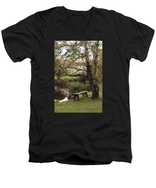 Men's V-Neck T-Shirt featuring the photograph Peaceful Retreat by Margie Avellino