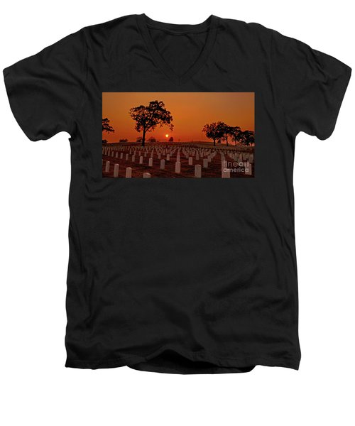 Peaceful Sunset Men's V-Neck T-Shirt
