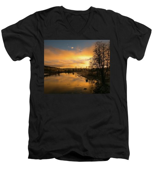 Peaceful Thoughts Men's V-Neck T-Shirt by Rose-Marie Karlsen