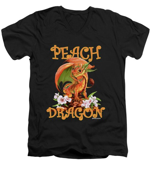 Peach Dragon Men's V-Neck T-Shirt