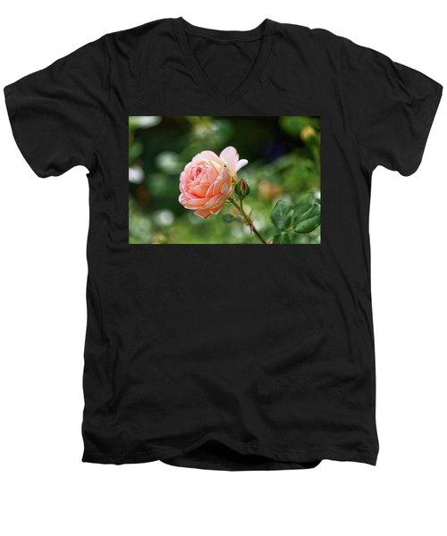 Peach Petals Men's V-Neck T-Shirt