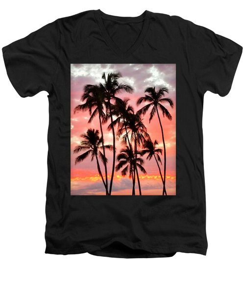 Peachy Palms Men's V-Neck T-Shirt