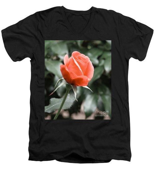 Peachy Rose Men's V-Neck T-Shirt