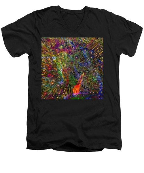 Peacock Men's V-Neck T-Shirt
