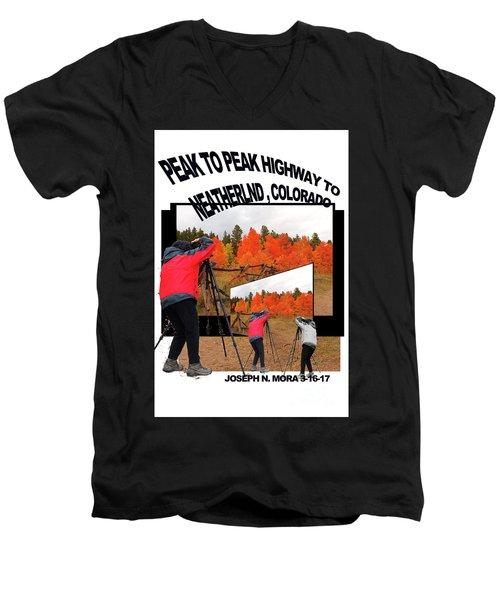 Peak To Peak Highway Men's V-Neck T-Shirt