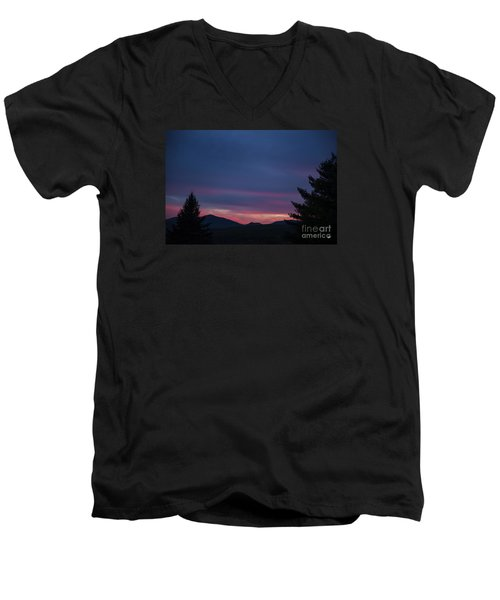 Men's V-Neck T-Shirt featuring the photograph Peaks by Alana Ranney
