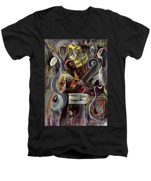 Pearl Jam Men's V-Neck T-Shirt by Ikahl Beckford