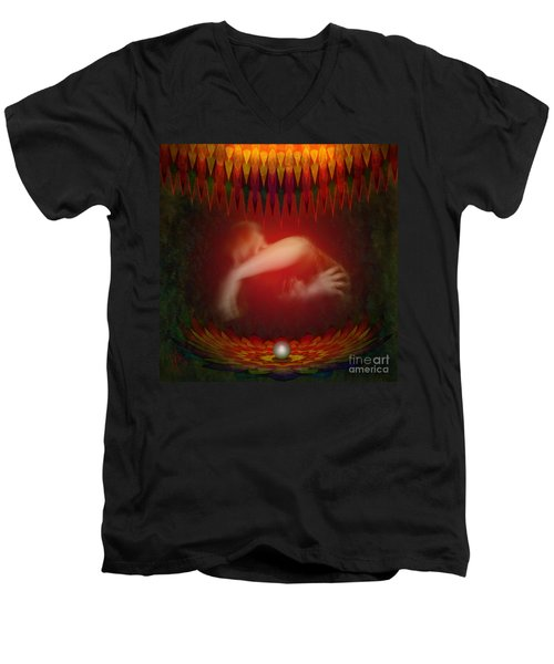 Pearl Of Love Men's V-Neck T-Shirt by Rosa Cobos