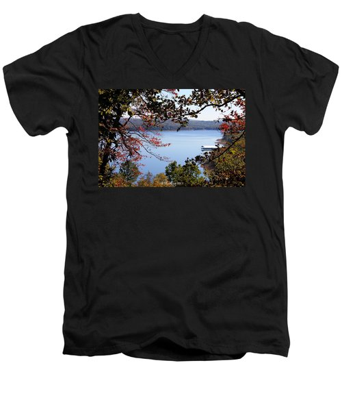 Peek-a-view Men's V-Neck T-Shirt by Betty Northcutt