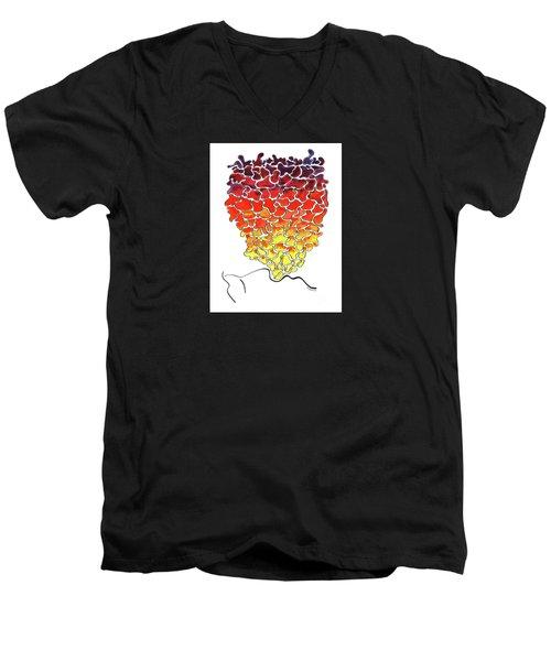 Pele Dreams Men's V-Neck T-Shirt by Diane Thornton