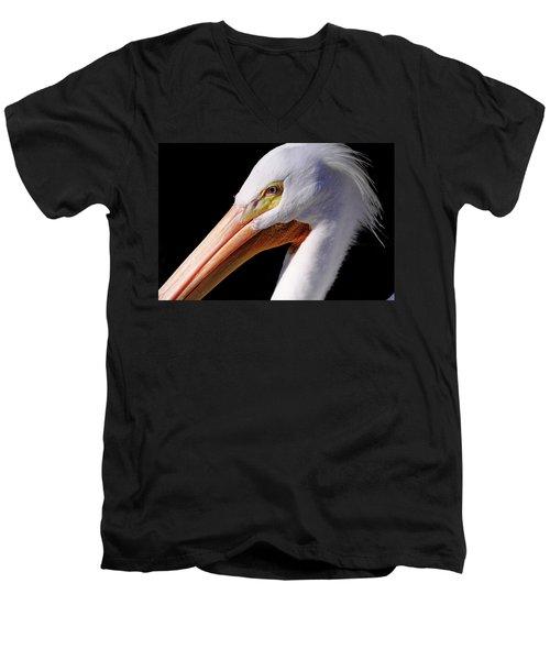 Pelican Portrait Men's V-Neck T-Shirt