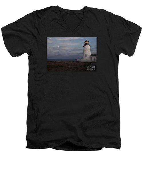 Pemaquid And Full Moon Men's V-Neck T-Shirt