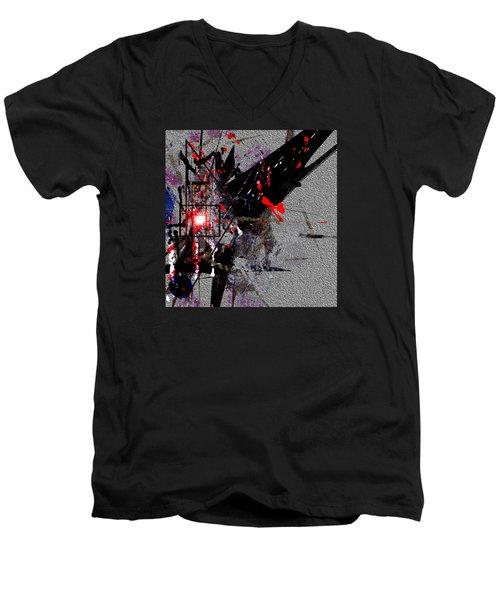 Penman Original-230 Point Of Impact Men's V-Neck T-Shirt by Andrew Penman