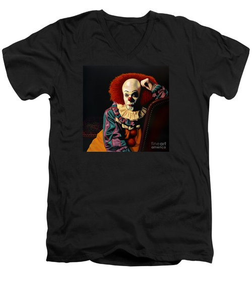 Pennywise Men's V-Neck T-Shirt by Paul Meijering