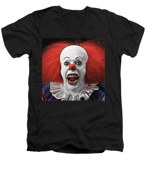 Pennywise The Clown Men's V-Neck T-Shirt