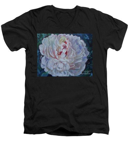 Peony 11 Jenny Lee Discount Men's V-Neck T-Shirt