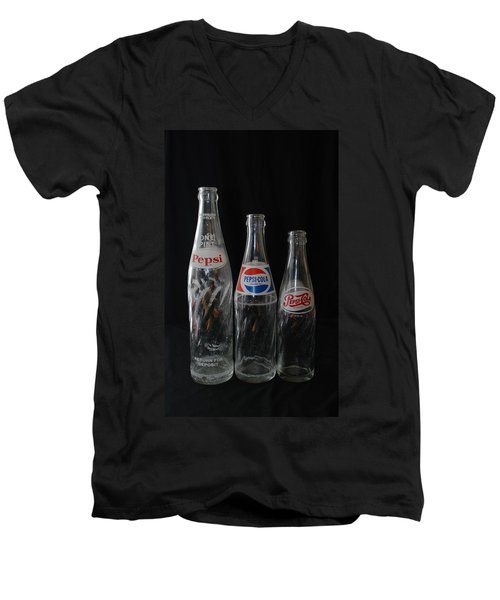 Pepsi Cola Bottles Men's V-Neck T-Shirt by Rob Hans