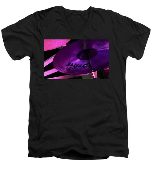 Men's V-Neck T-Shirt featuring the photograph Percussion by Lori Seaman