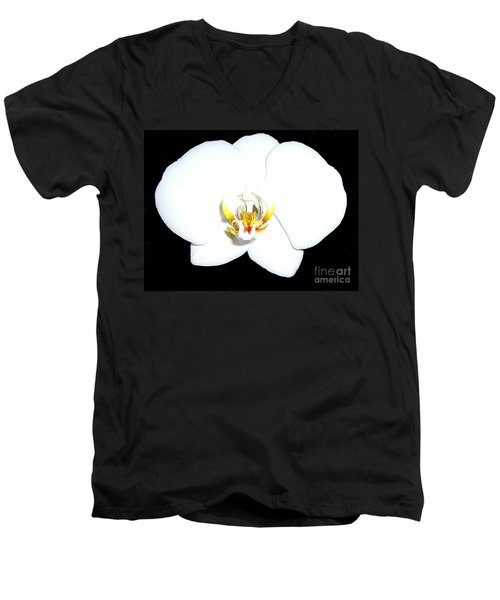Perfect White Orchid Men's V-Neck T-Shirt