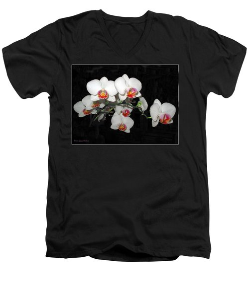 Phalaenopsis Orchids Men's V-Neck T-Shirt by Joyce Dickens