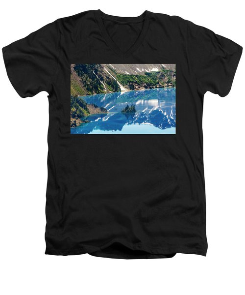 Phantom Ship Island Men's V-Neck T-Shirt