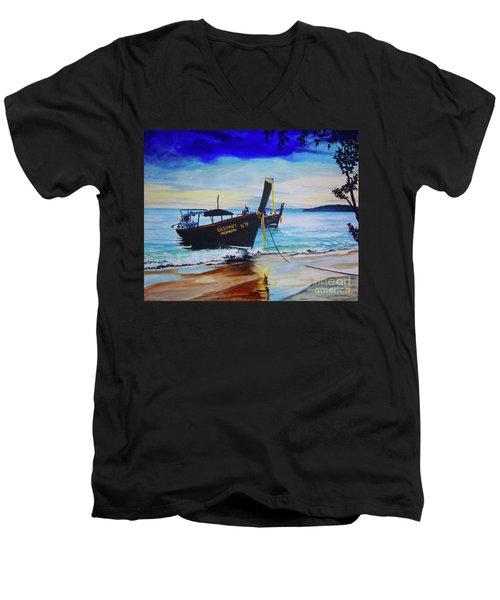 Phi Phi Men's V-Neck T-Shirt by Stuart Engel