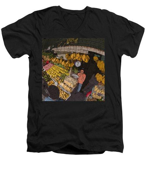 Philippines 3575 Saging Sales Lady Men's V-Neck T-Shirt
