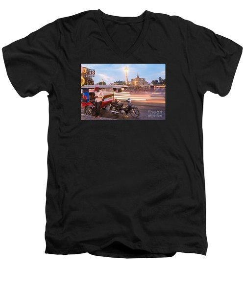 Phnom Penh Tuk Tuk Men's V-Neck T-Shirt