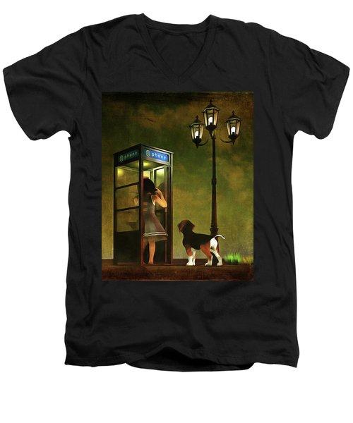 Phoning Home Men's V-Neck T-Shirt