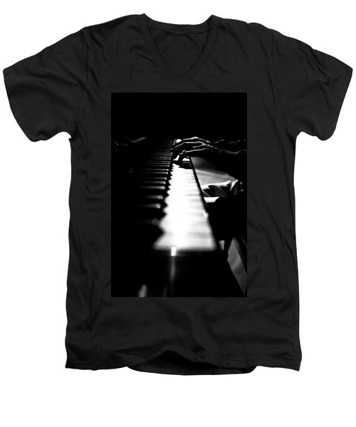 Piano Player Men's V-Neck T-Shirt