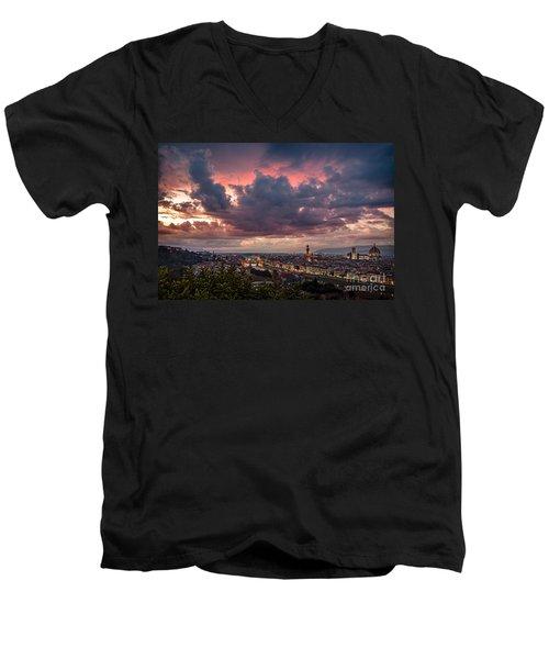Piazzale Michelangelo Men's V-Neck T-Shirt