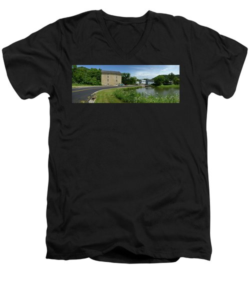 Pickwick Mill Panorama Men's V-Neck T-Shirt by Janice Adomeit