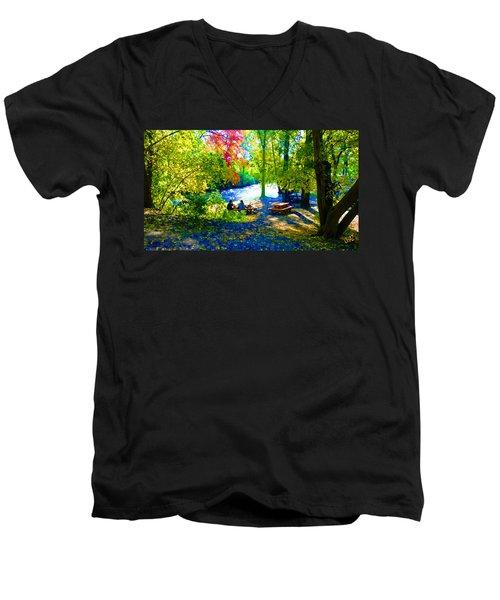 Picnic Men's V-Neck T-Shirt