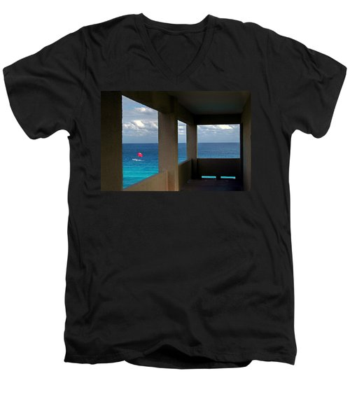 Picture Windows Men's V-Neck T-Shirt