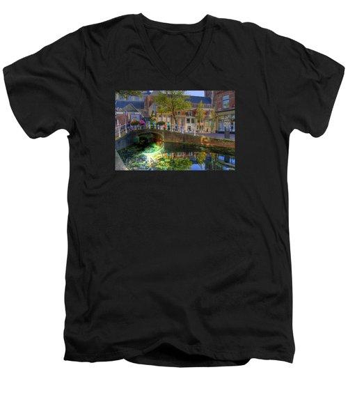 Picturesque Delft Men's V-Neck T-Shirt
