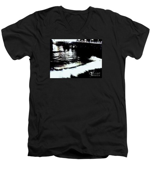 Men's V-Neck T-Shirt featuring the photograph Pier by Vanessa Palomino