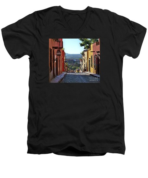 Men's V-Neck T-Shirt featuring the photograph Pila Seca by John  Kolenberg