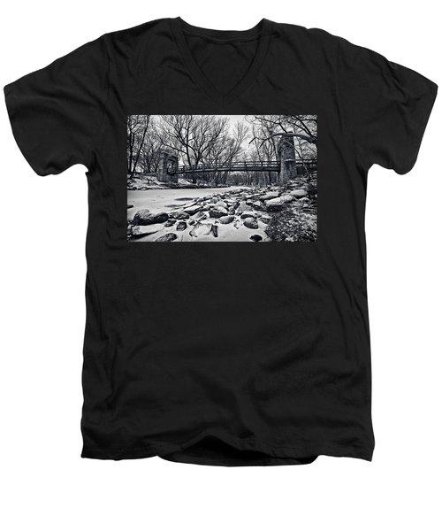 Pillars On The Shore Men's V-Neck T-Shirt